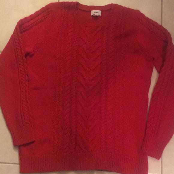 fa0ecca7774 Cable knit red old navy sweater. M_5c5e77f23e0caac14519e43e